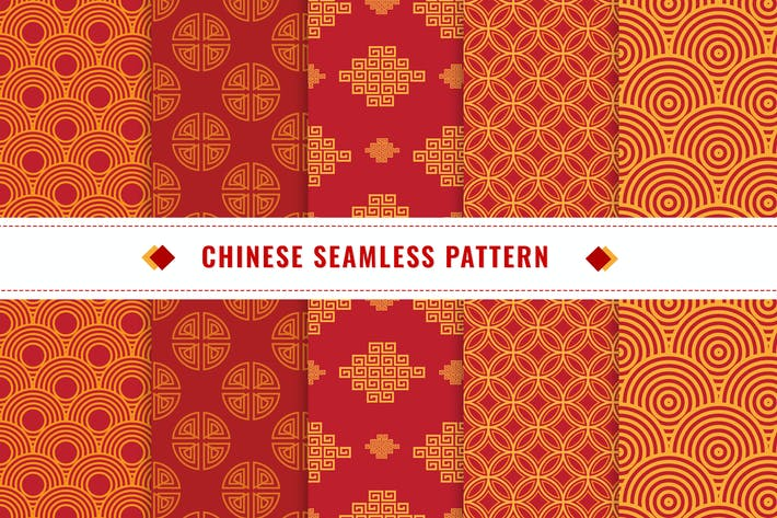 Cover Image For Chinese Seamless Pattern Vector v1