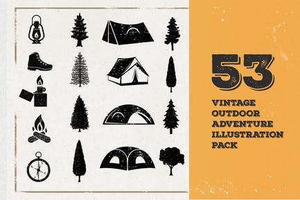 53 Ilustración de Aventura vintage.