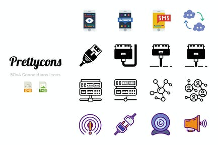 Prettycons - 200 Connections Icons Vol.1