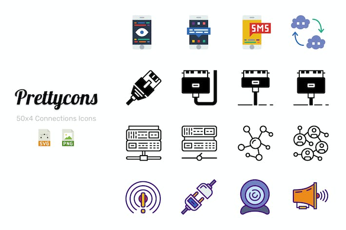 Thumbnail for Prettycons - 200 Connections Icons Vol.1