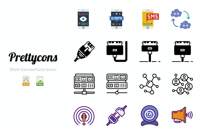 Cover Image For Prettycons - 200 Connections Icons Vol.1