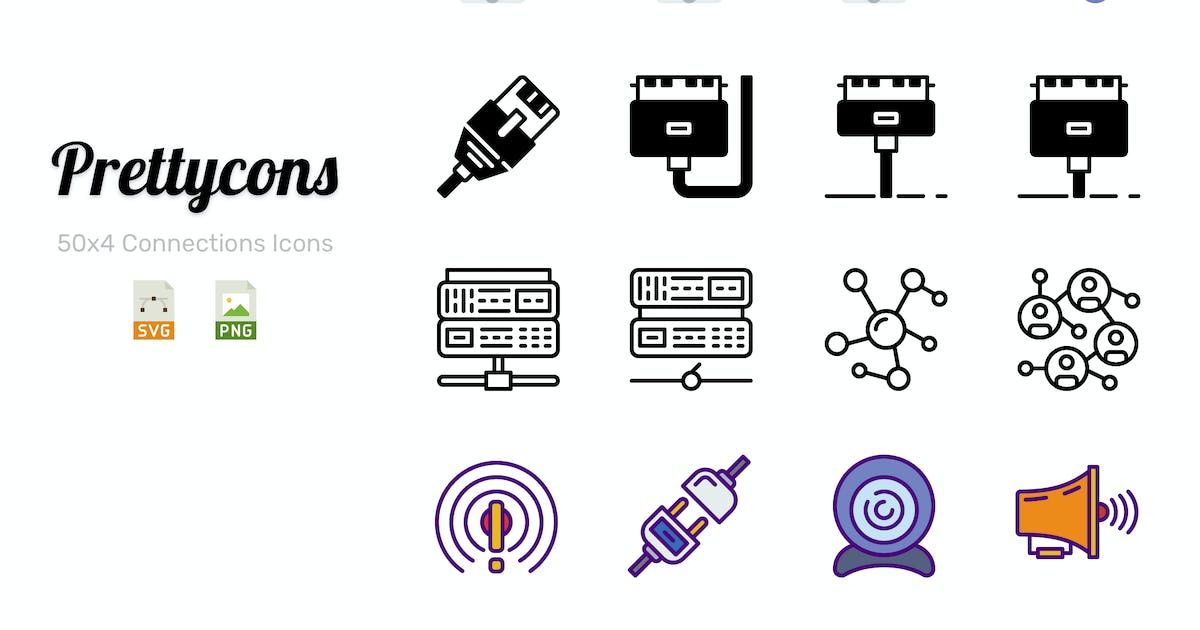 Download Prettycons - 200 Connections Icons Vol.1 by Prettycons