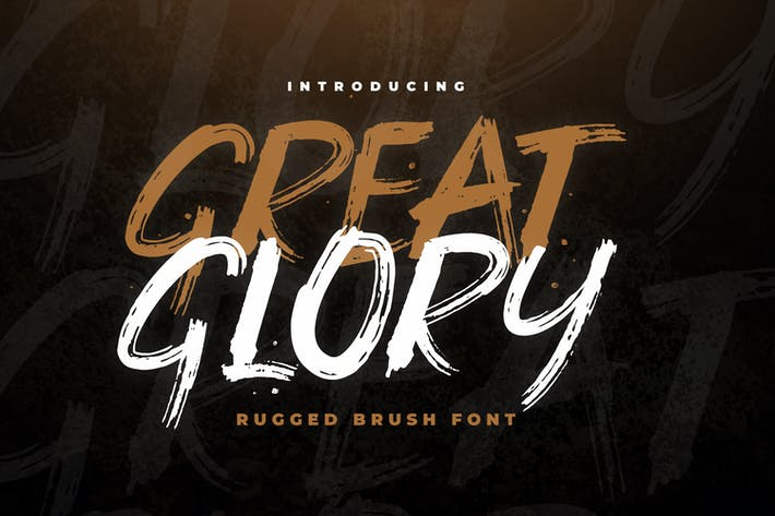 Thumbnail for Great Glory Brush Font