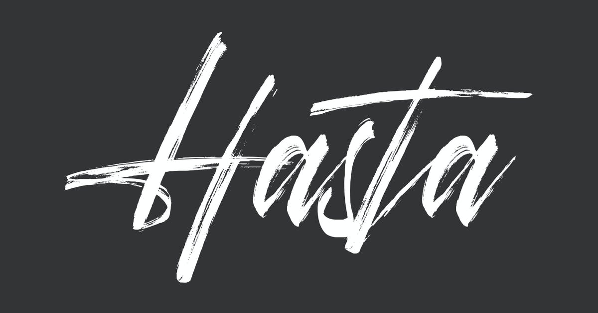 Download Hasta Brush Script Font by maulanacreative