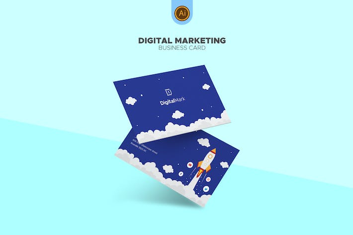 Thumbnail for Digital Marketing Business Card 01