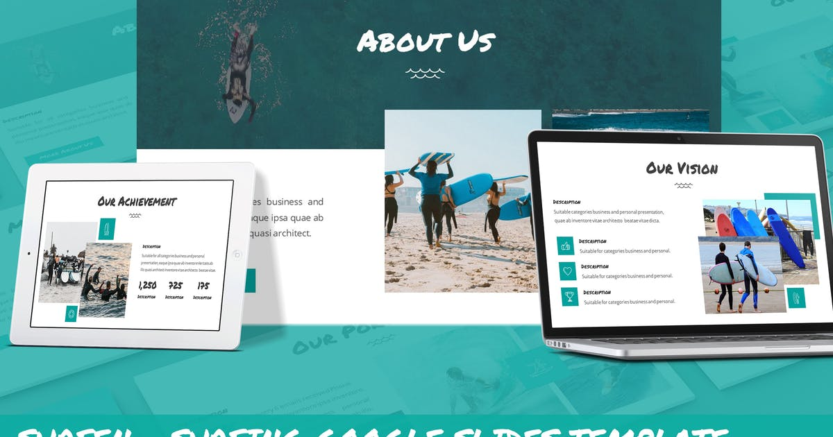 Download Surfen - Surfing Google Slides Template by SlideFactory