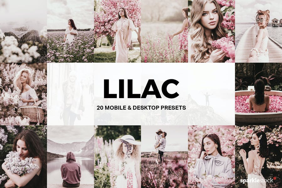 20 Lilac Lightroom Presets and LUTs