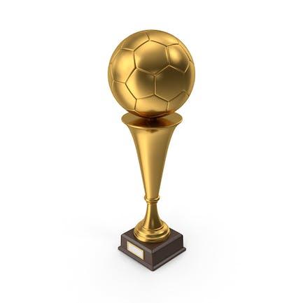 Golden Trophy Soccer Ball