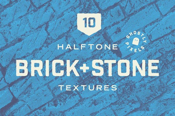 Texturen von Halbton Brick & Stone Wall