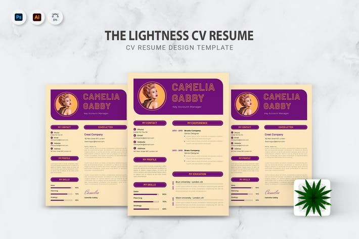 Thumbnail for Lightness CV Resume