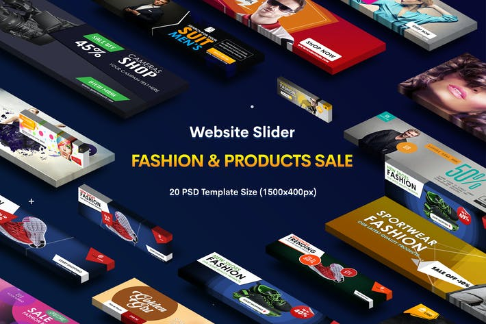 Thumbnail for Website Sliders Product Sale - 20 PSD