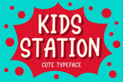 Kids Station - Cute Typeface
