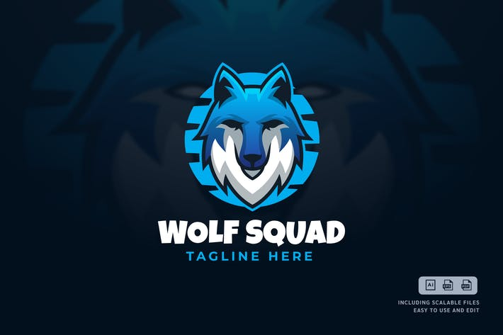 Thumbnail for Wolf Squad - Logo Design Template