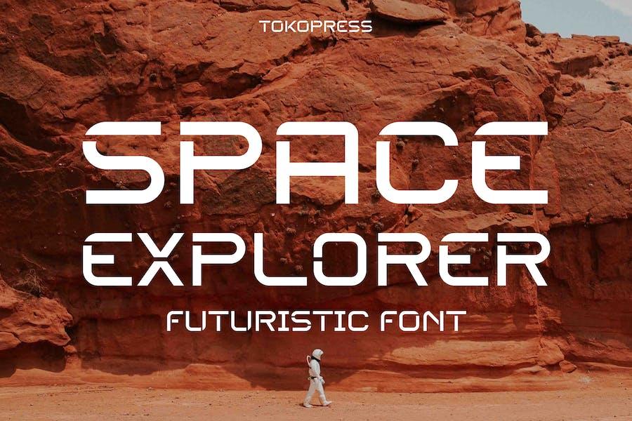 SPACE EXPLORER - futuristic font