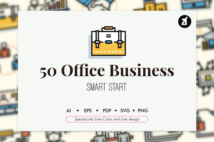 Thumbnail for 50 Office and Business elements