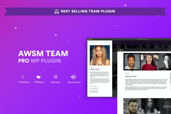 Cover Image For AWSM Team Pro - Team Showcase Plugin