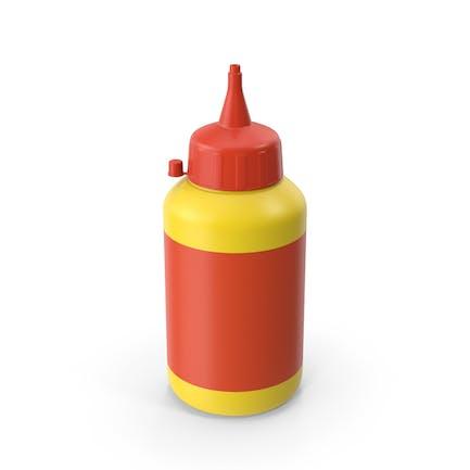Botella de pegamento amarillo