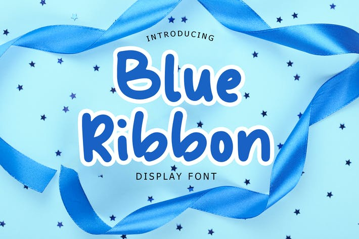 Thumbnail for Blue Ribbon Fun Display Font