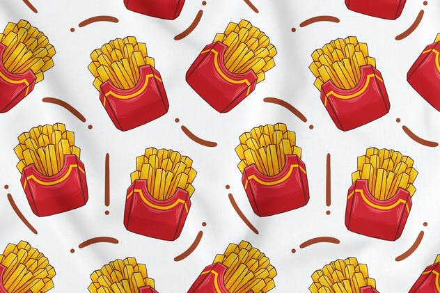 French Fries Seamless Pattern - product preview 1