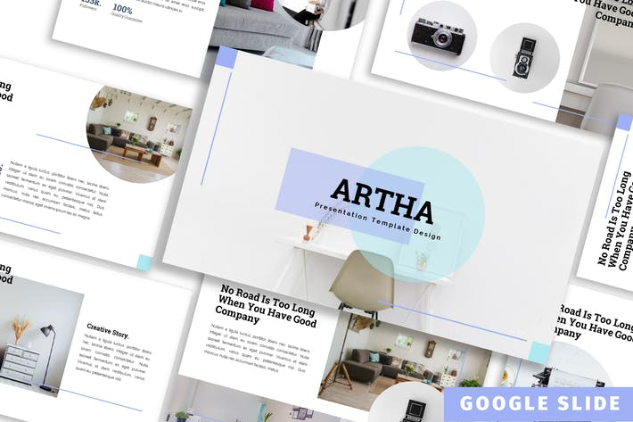 Thumbnail for Artha - Furniture Google Slide Template