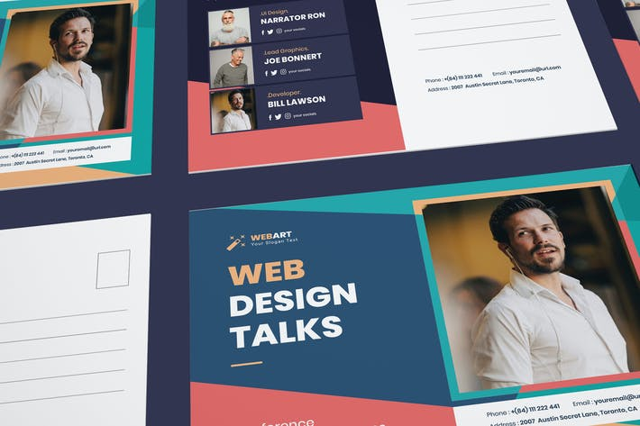 Thumbnail for Conference Post Card PSD Template