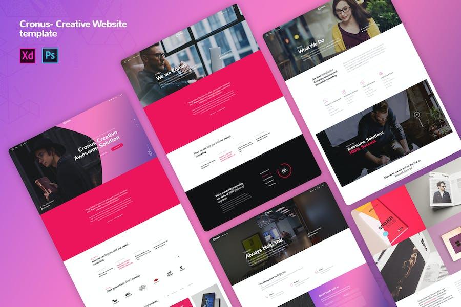 Cronus - Creative agency Website Templates
