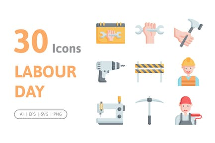 30 Labour Day Icons
