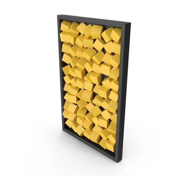 Желтый современный деревянный стены искусства