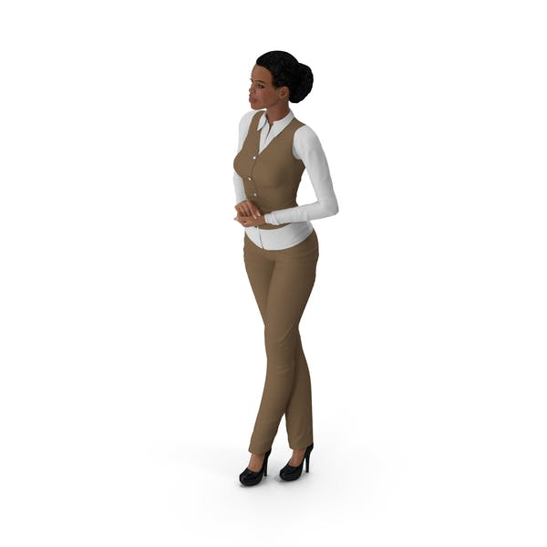 Thumbnail for Light Skin Business Style Woman Standing Pose