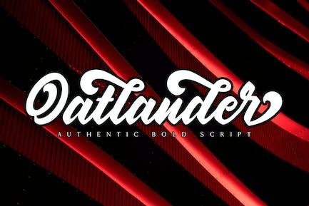 Oatlander - Authentic Bold Script