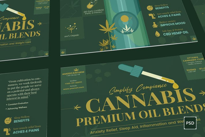 Thumbnail for Cannabis Hemp Oil Products Postcard