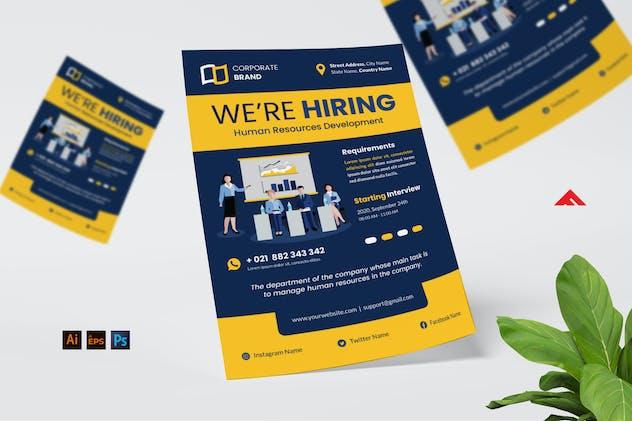 HR Job Hiring Flyer Advertisement