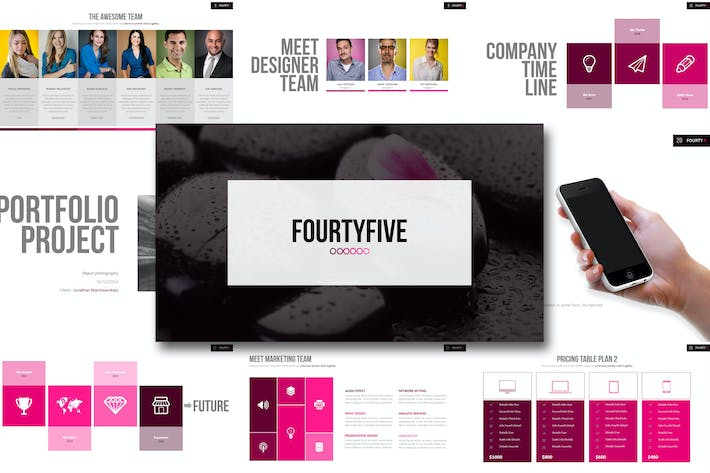 Thumbnail for Fourty Five - Powerpoint Template