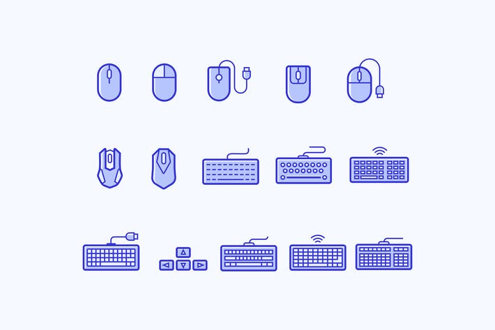 Cover Image For 15 Keyboard and Mouse Icons
