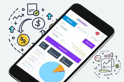 B Wallet Dashboard 1 Mobile Ui