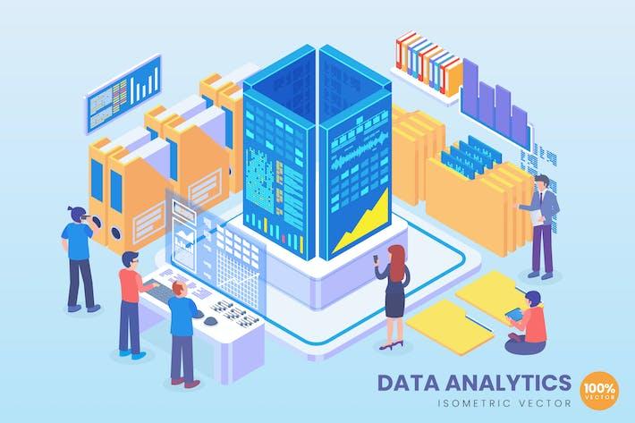 Thumbnail for Isometrische Datenanalyse Vektor konzept