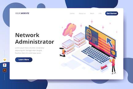 Netzwerkadministrator - Zielseite