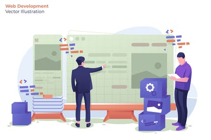Webentwickler - Vektor Illustration
