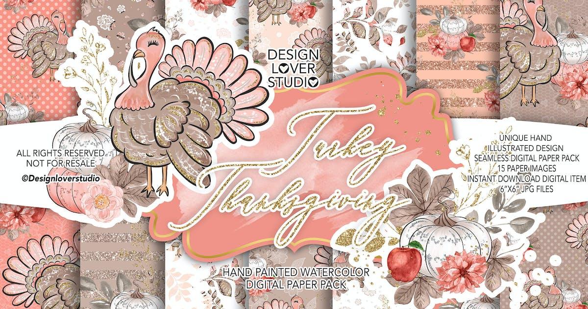 Download Turkey Thanksgiving digital paper pack by designloverstudio