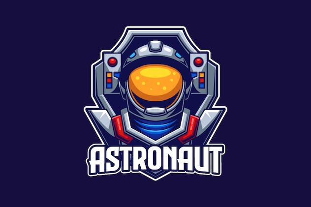 Astronaut E-sports Logo Template