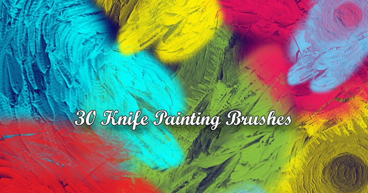Download 30 Knife Painting Brushes by gblack-id
