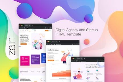 Zain - Digitale Agentur und Startup HTML Vorlage