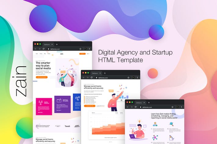 Thumbnail for Zain - Digital Agency and Startup HTML Template