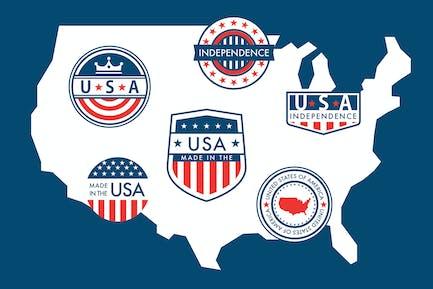 Patriotic Badges