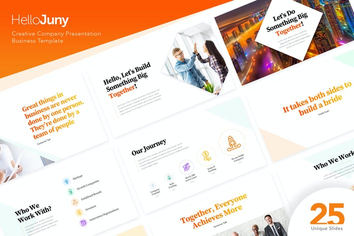 Thumbnail for HelloJuny - Creative Company Business PowerPoint