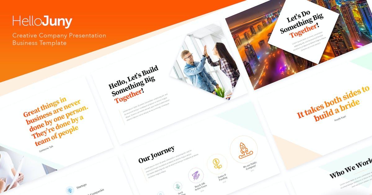HelloJuny - Творческая компания Бизнес PowerPoint от peterdraw on Envato Elements