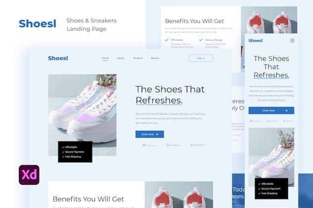 Shoesl - Shoes & Sneakers Shop Landing Page