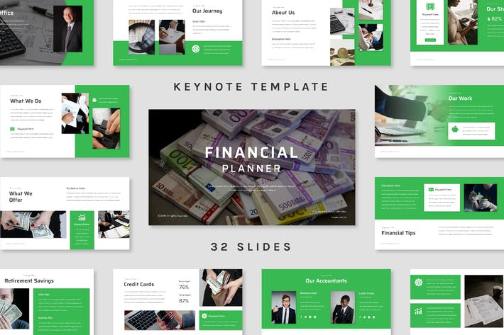 Cover Image For Financial Planner - Keynote Template