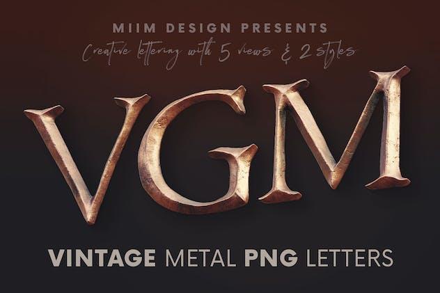 Vintage Metallic - 3D Lettering
