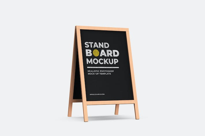 Thumbnail for Wood Stand Board Mock-Up Template